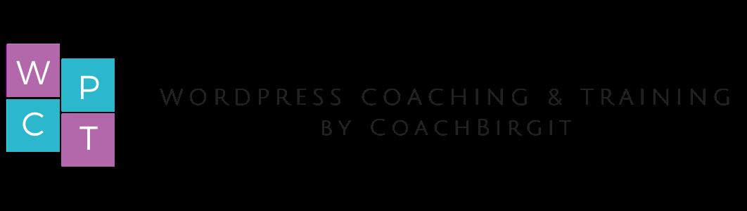 WordPress Coaching, Schulung und Beratung von CoachBirgit